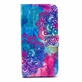 PowerQ Colorful Pattern PU-Lether Case Holster Series for Iphone 4S 4G 4 IPhone4 IPhone4S Apple4S PU Case Bag with Beautiful Pretty Pattern Print Printing Drawing Wallet Purse Bag Cell Phone Case mobile Cover Protect Skin with Credit Card Slot Stand Stander Holder X-1
