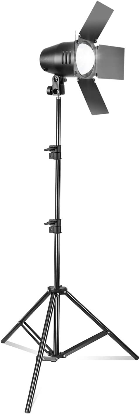 (50% Moving Clearance Sale) Continuous Photography Studio Barn Door Light, 82.3 Inch Adjustable Light Stand and LED Light Bulb, Photo/Video Studio Lighting Kit PROMO12_AM1