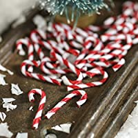 """24 Dollhouse Miniature 3//4/"""" Red /& White Candy Canes for Christmas"""