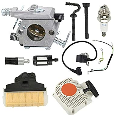ELECTROPRIME Recoil Starter Carburetor kit 1pc Power Equipment Chainsaw Parts Spare 8