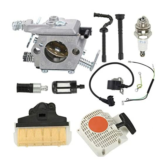 ELECTROPRIME Recoil Starter Carburetor kit 1pc Power Equipment Chainsaw Parts Spare 4