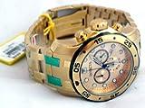 Invicta Men's 80070 Pro Diver Analog Display Swiss Quartz Gold Watch, Watch Central