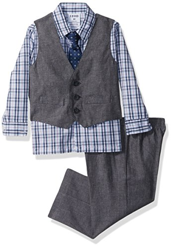 - Izod Baby boys 4-Piece Vest Set with Dress Shirt, Bow Tie, Pants, and Vest, Bloom, 18 Months