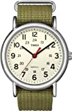 Military Watches Timex Unisex T2N651 Weekender Olive Nylon Slip-Thru Strap Watch