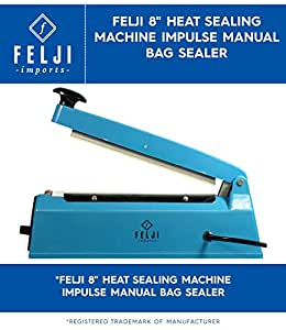 Felji 8 Heat Sealing Machine Impulse Manual Bag Sealer by Felji