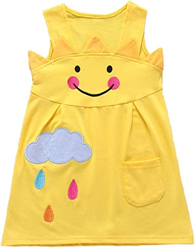 Toddler Baby Girl Cartoon Costume Party Pageant Dress Sundress Casual Clothes