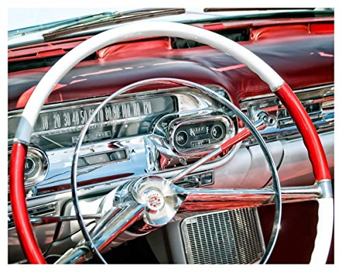 (57 Cadillac Classic Car Fine Art Print - 11x14 Unframed Photo Art - Great Gift for Vintage Car Lovers or Gear Heads. Perfect for the Game Room, Man Cave, Dorm)