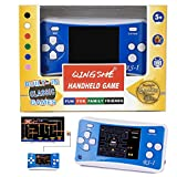 "QINGSHE Retro Handheld Game Console for Kids,Classic Arcade Video Gaming System Playstation, 2.5"" LCD Portable Game Player with The 90's 152 Classic Old Games,Best Birthday Gift for Boys Girls-Blue"
