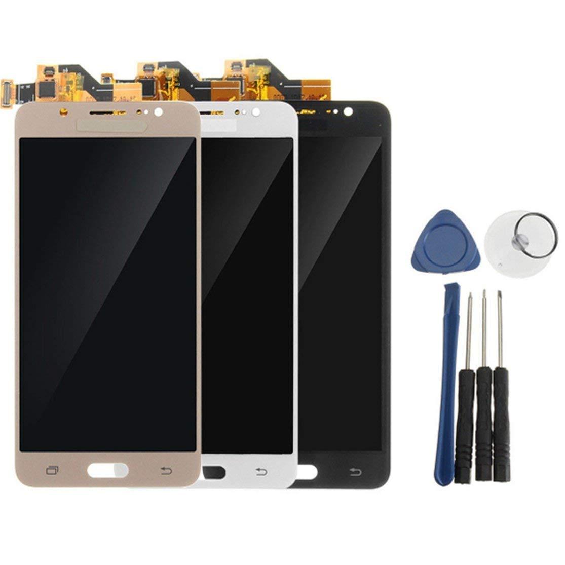 LouiseEvel215 Ecran Digitizer Assembl/é Ecran LCD Compatible pour Samsung Galaxy J5 2016 J510 R/éparation Accessoires de Remplacement