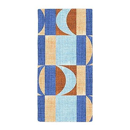 jesspad toalla de baño diseño de textura Geometría azul marrón toallas de playa piscina