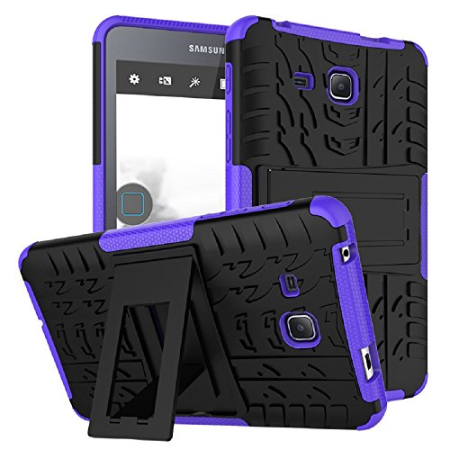 Maomi Samsung Galaxy Tab A 7.0 Case 2016 Release (SM-T280/T285),[Kickstand Feature],Shock-Absorption/High Impact Resistant Heavy Duty Armor Defender Case Samsung Tab A 7 Inch Tablet - 7 Case Tablet Purple Inch