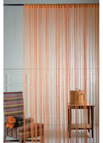 Homemaison hm69808244 cortina de hilos color naranja for Cortinas de hilos