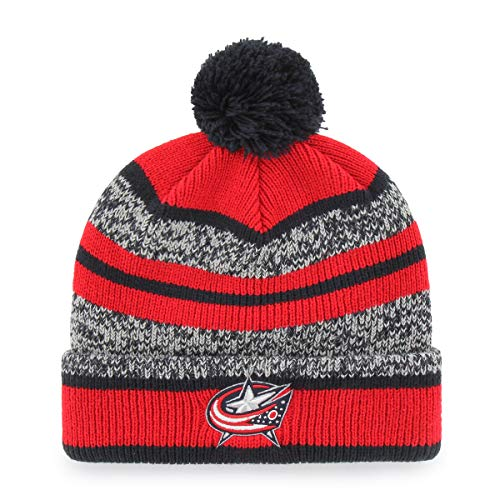 competitive price de52b 60896 Amazon.com   OTS NHL Minnesota Wild Male Huset Cuff Knit Cap with Pom, Red, One  Size   Sports   Outdoors