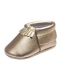 Zhengpin Fashion Girls Soft Soled Tassel Crib Shoes PU Moccasins