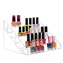 CAN_Deal Clear Acrylic 6 Layer Nail Polish Display Rack / Tabletop Large Size