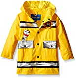 Wippette Little Boys' Fireman Rain Jacket and Boot Set, Gold, 6