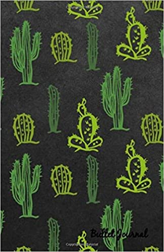 Bullet Journal: Cactus Dark Notebook Dotted Grid, Size 5.5 x ...