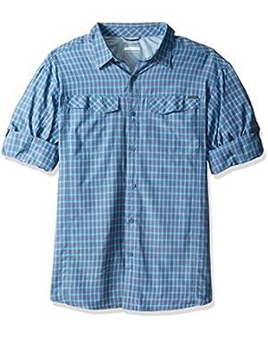 Men's Big-Tall Silver Ridge Plaid Long Sleeve Shirt, Oxygen, 2XT