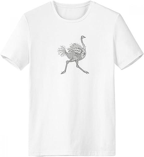 DIYthinker Pintura de Aves Largo de Cuello rojoondo Camiseta Blanca de Manga Corta Comfort Deportes Camisetas Regalo Que se Ejecuta - Multi -: Amazon.es: Deportes y aire libre