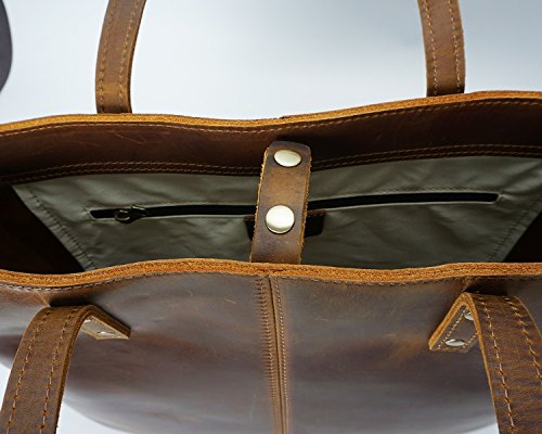 De Cuero Vendimia Hombro Brown Ocasionales Mujeres Gran Las Bags Señoras Bolso Capacidad La dxHpqwd
