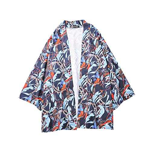 - Kimono for Men's - Lovers Individuality Print 1/2 Sleeve Sunscreen Loose Smock Hot Clothing Coat Tops S-XXL by:iYBUIA