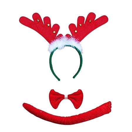 TOYMYTOY toymy Toy 3pcs Navidad Disfraz Set niños Reno Cinta con ...