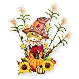 Collections Etc Autumn Scarecrow Cat Garden Stake
