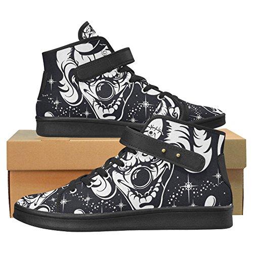 Interestprint Eenhoorn Doek Schoenen Mode Schoenen Voor Vrouwen Enge Clown Hoofd