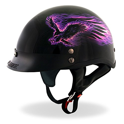 Hot Leathers DOT Approved Purple Blackout Eagle Helmet (B...