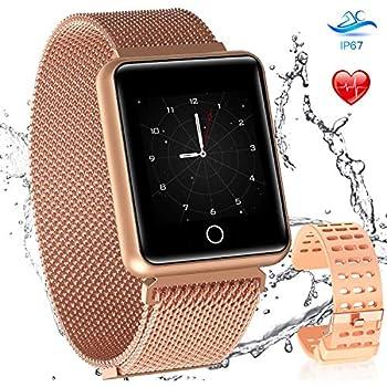 Amazon.com: CatShin Fitness Watch Heart Rate Monitor IP68 ...