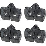 MACs Auto Parts 41-36360 Hood Bumper Set - Black Rubber - Push-In Type - Falcon & Comet