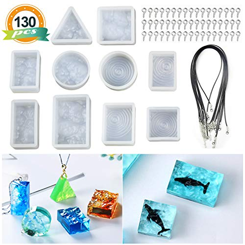 10PCS Sea Wave Style Resin Molds, LET
