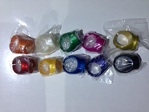 Green Lantern & Legion of Superheroes DC Comics Rings -- Set of (Superhero Yellow And Blue Costume)
