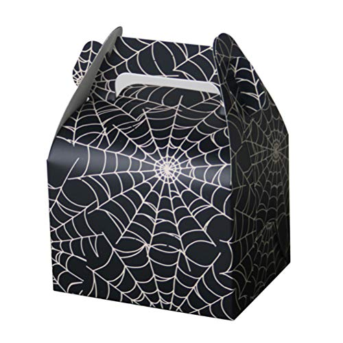 BESTOYARD 20pcs Portable Candy Boxes Halloween Treat Paper Bags Spiderweb Halloween Party Favor Boxes for Party Supplies Kids Birthday Decorations ()