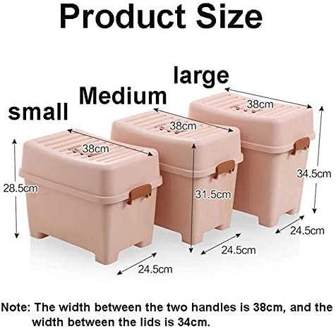 MKXF Boîte de rangement rectangulaire multifonction en plastique épais