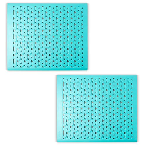 - Crippa Kitchen Sink Protector Mat | Set of 2 Sink Mats for Porcelain Sink | Kitchen Sink Mats For Double Sink | Turquoise