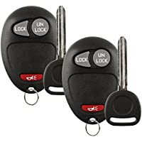 Discount Keyless Replacement Key Fob Car Remote and Uncut Ignition Key Compatible with L2C0007T, 10335582-88, B110 (2 Pack)