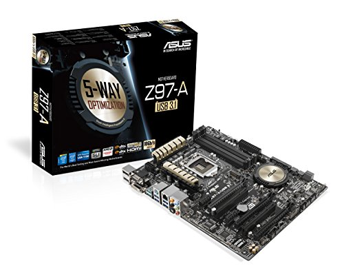 Asus ATX DDR3 2600 LGA 1150 (10Gb/s) Motherboards (Z97-A)
