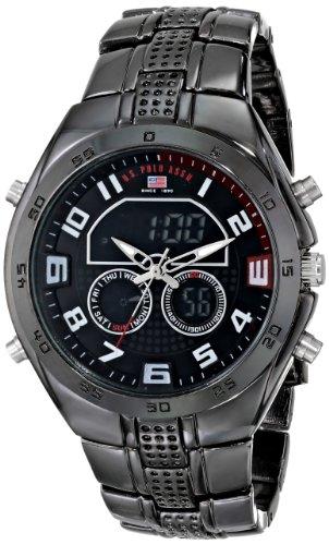U.S. Polo Assn. Sport Men's US8203 Gunmetal-Tone Watch (Bezel Flag Dial)