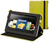 Kindle Fire Genuine Leather Cover by Marware, Green (does not fit Kindle Fire HD)