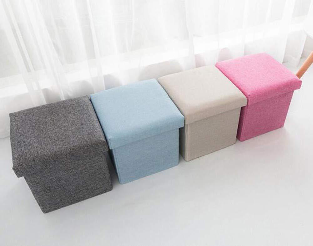 Lingstorage cuscino contenitore sgabello poggiapiedi pieghevole