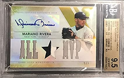Mariano Rivera Signed 2015 Topps Triple Threads Game Used
