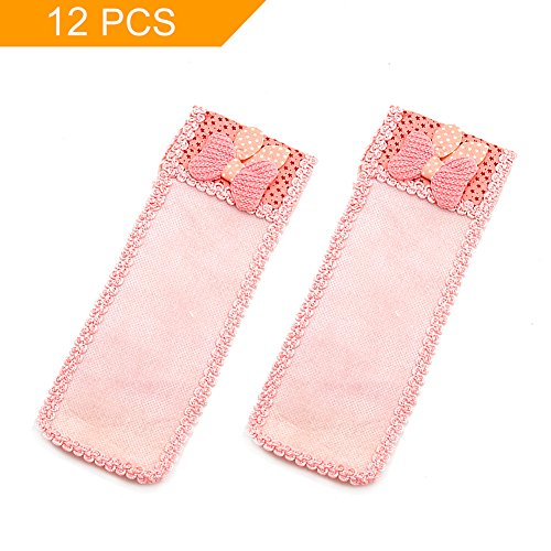 FuturePlusX 12PCS Lace Remote Control Protective Cover, Remote Control Organizer Storage Cute Bowknot Dust Cover for TV Air Conditioning Remote Controller