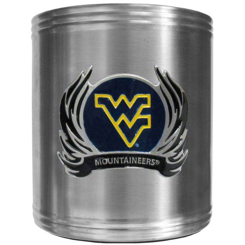 NCAA West Virginia Mountaineers Steel Flame Logo Can Cooler - Logo Cooler