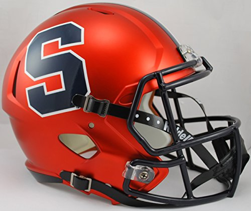 NCAA Syracuse Orange Full Size Speed Replica Helmet, Orange, Medium by Riddell