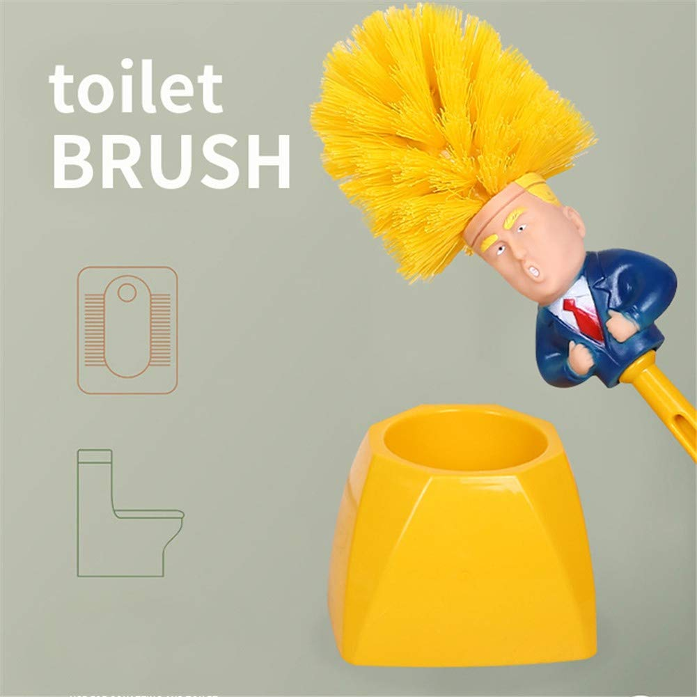 Funny Trump Cartoon Toilet Brush Holders Home Bathroom Cleaning Tools