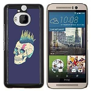 YiPhone /// Prima de resorte delgada de la cubierta del caso de Shell Armor - Punk Purple Vignette Rock Metal - HTC One M9Plus M9+ M9 Plus