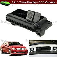 2 in 1 Replacement Car Trunk Handle + CCD Rear View Reverse Backup Parking Camera for Mercedes Benz W204 W212 C200 C180 C-Class E-Class