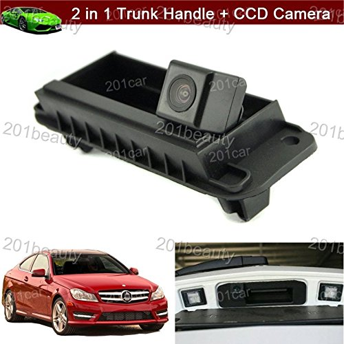 Cheap 2 in 1 Replacement Car Trunk Handle + CCD Rear View Backup Reverse Parking Camera For Mercedes Benz W204 W212 C200 C180 C-Class E-Class