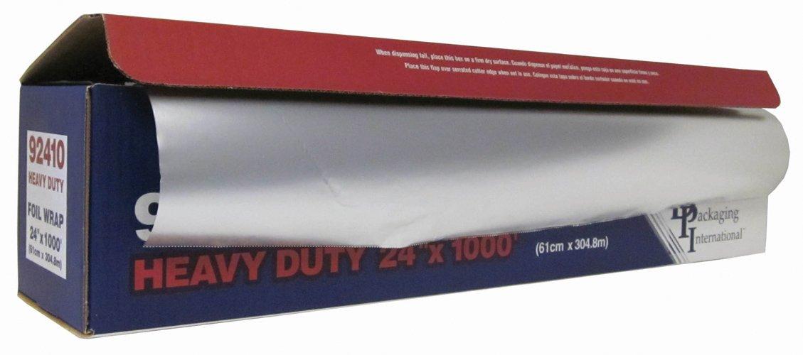 Durable Heavy Duty Aluminum Foil Roll, 24 Width x 1000' Length